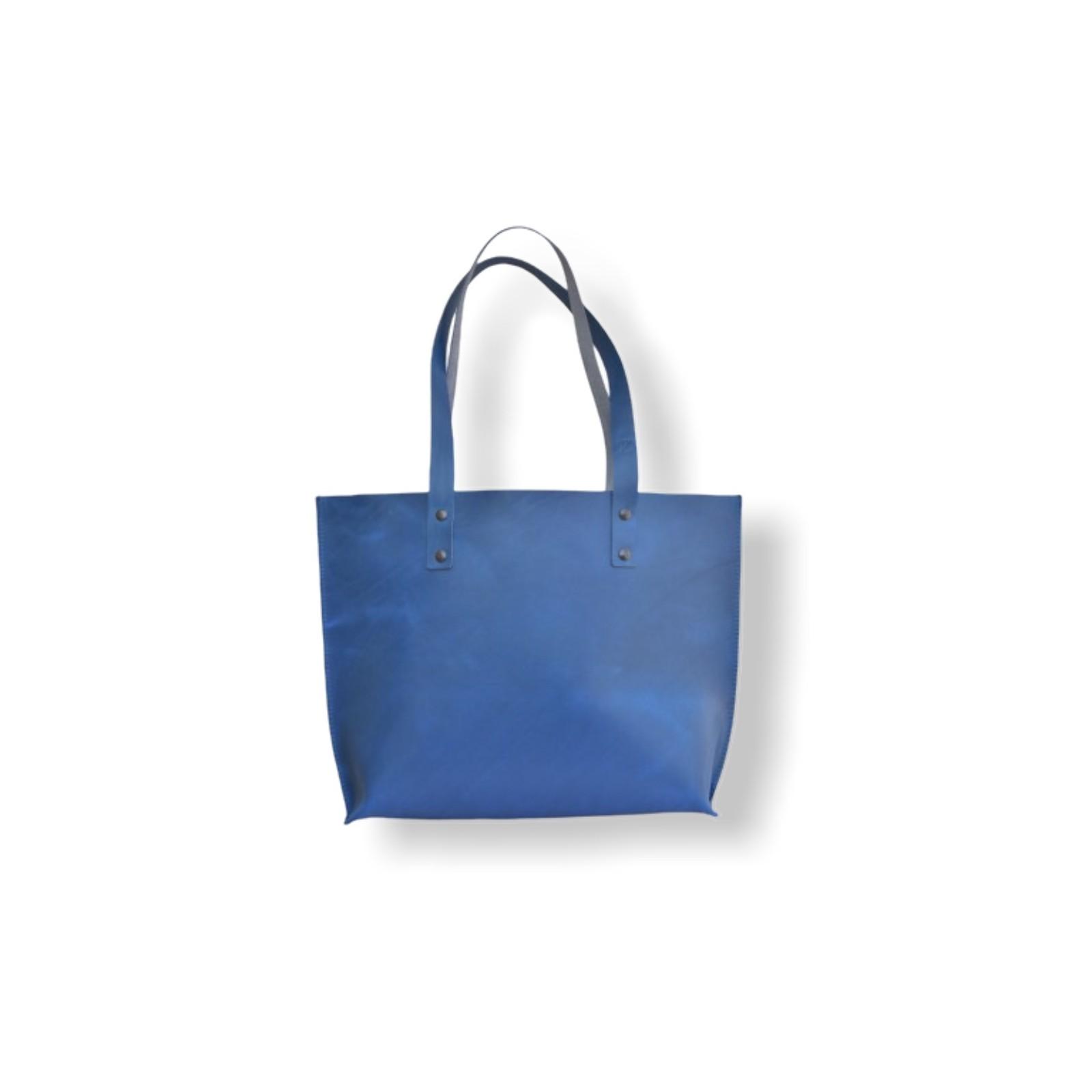 VELKÁ ELEGANTNÍ KABELKA ŠÁRKA - 8 barev kůže - provedení modrá